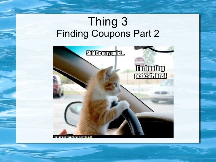 Thing 3 Finding Coupons Part 2