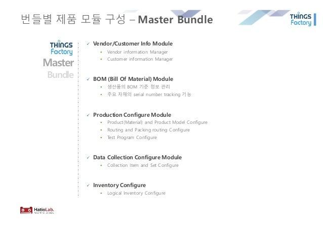 번들별 제품 모듈 구성 – Master Bundle ü Vendor/Customer Info Module § Vendor information Manager § Customer information Manager ü B...