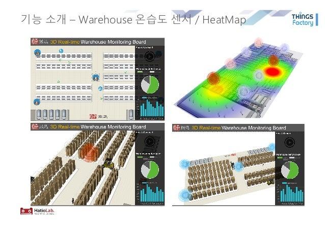 기능 소개 – Warehouse 온습도 센서 / HeatMap
