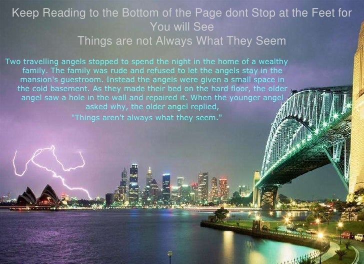 Keep Reading to the Bottom of the Page dont Stop at the Feet for You will SeeThings are not Always What They Seem<br />Two...