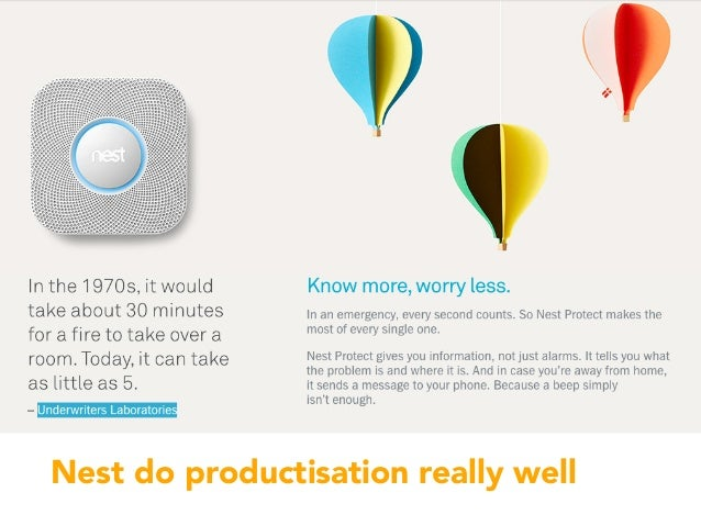 Nest do productisation really well