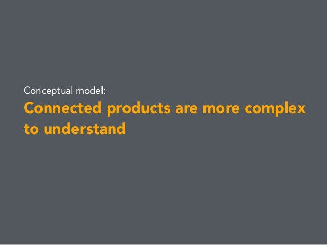 Conceptual model: Connected products are more complex to understand