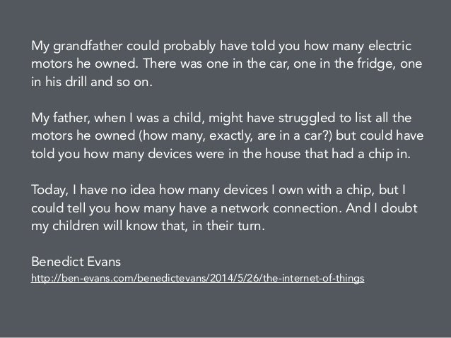 My grandfather could probably have told you how many electric motors he owned. There was one in the car, one in the fridge...