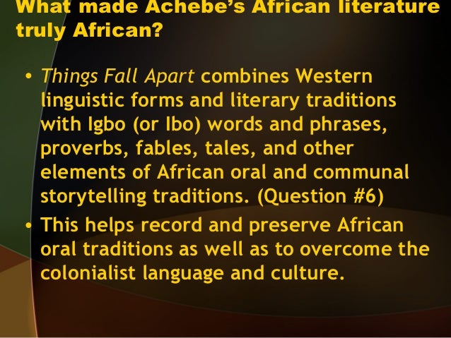 the patriarchal culture of the ibo tribe in things fall apart a novel by chinua achebe Introduction chinua achebe's things fall apart is probably the most to the nigerian people yet achebe novel, achebe uses the spelling ibo.