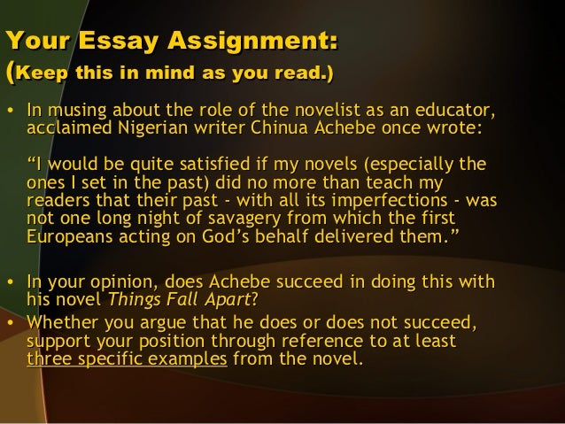 things fall apart igbo culture essay Culture and traditions are a major part of chinua achebe's novel 'things fall apart' in this lesson you'll learn about igbo culture and how it.