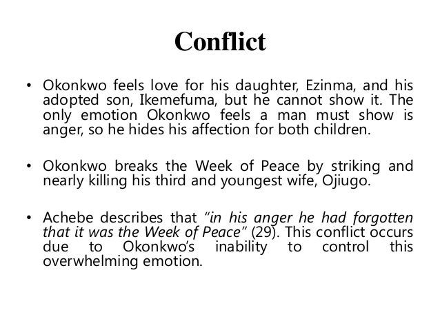 the anger and wrath of obierika Title length the effects of the journey on the main character in heart of color the importance of being a messenger of the christian faith rating : okonkwo.