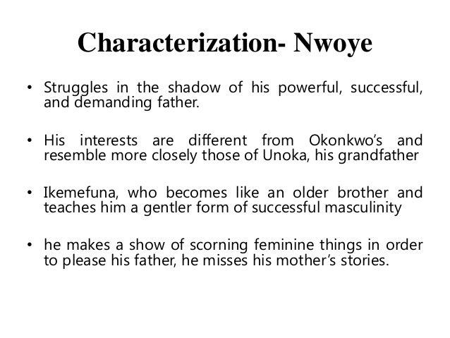 "okonkwo and unoka compare and contrast Things fall apart, written by chinua achebe, has a proverb like this: ""when the mother-cow is chewing grass its young ones watch its mouth"" the proverb shows that a child will have his behavior like his parents."
