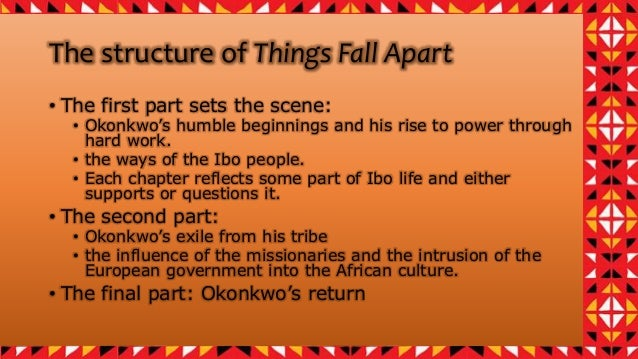 an analysis of ibo culture in things fall apart African culture in the mid-1900s was very unique and different from any other  country african natives were very secluded and therefore had a chance to  develop.