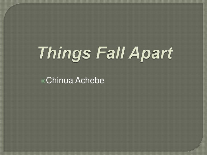 othello and things fall apart In things fall apart, the first method achebe used to create a new english is the introduction of igbo words and phrases directly into the text without.
