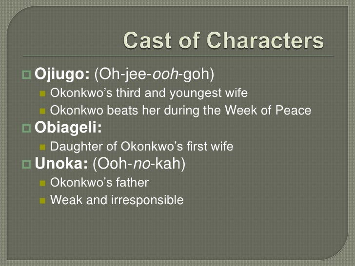 okonkwo and ekwefi relationship test