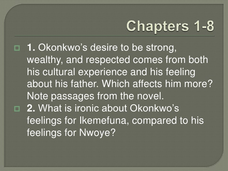 what is ironic about okonkwo and ekwefi relationship