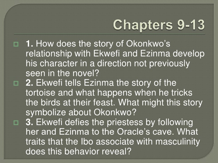 okonkwos exile Okonkwo in achebe's things fall apart has long been considered a tragic figure who  unlike the accidental killing which led to okonkwo's exile, this murder is.
