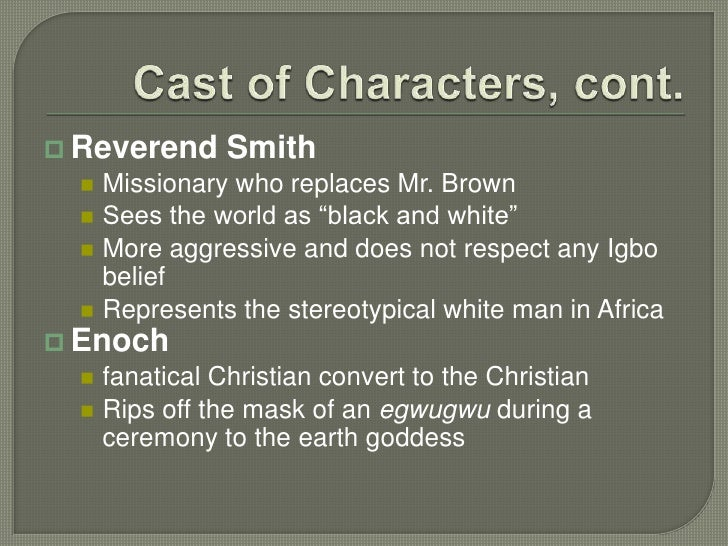 things fall apart compare mr brown and reverend smith