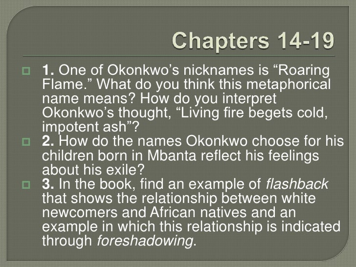 things fall apart relationship between okonkwo and note