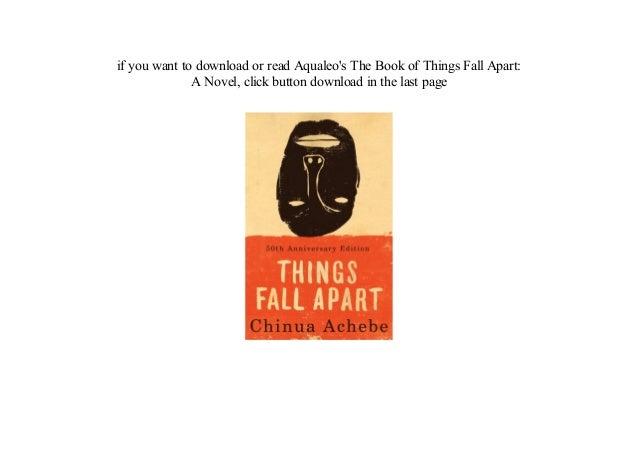 Things fall apart a novel read [pdf].
