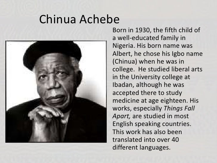 a comprehensive analysis of things fall apart by chinua achebe Writting project (band:5) of the novel, things fall apart by chinua achebe this novel is divided into three parts, pre-colonisation, colonisation and post-colonisation this was done to show its impact on the igbo commmunity.