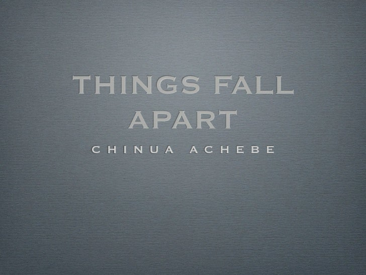 things fall apart authors purpose Things fall apart, first novel by chinua achebe, written in english and published in 1958 things fall apart helped create the nigerian literary renaissance of the 1960s achebe, chinuachinua achebe zumapresscom— keystone pictures/age fotostock.
