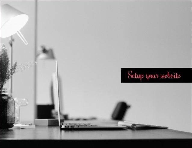 Setup your website