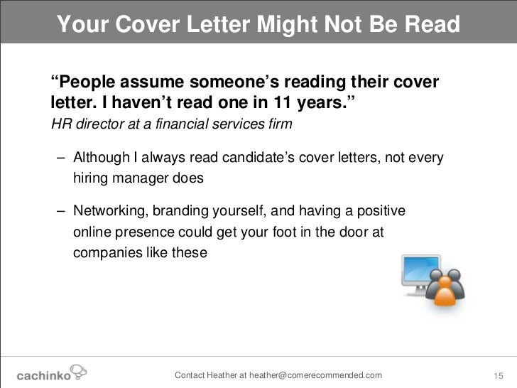 Things recruiters hiring managers won 39 t tell you for Do recruiters read cover letters
