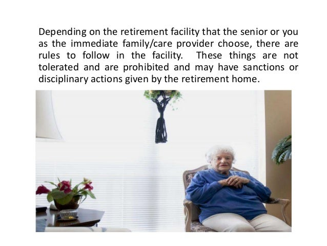 Things that Shouldn't be Tolerated in Retirement Homes