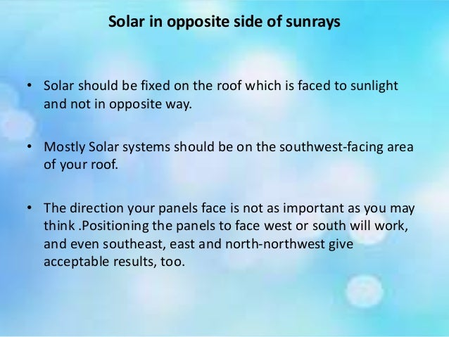 Things that to be avoided while installing solar