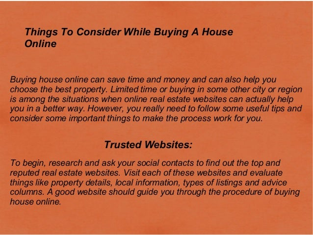 Things To Consider While Buying A House Online Buying House Online Can Save  Time And Money ...