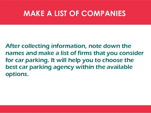 PRICE COMPARISON OF AIRPORT CAR PARKING Compare the price of companies before you make a final decision. The price list of...
