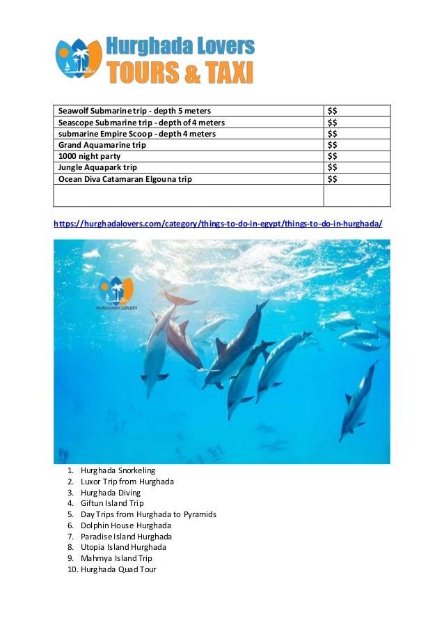 Top 10 Hurghada Excursions Slide 2