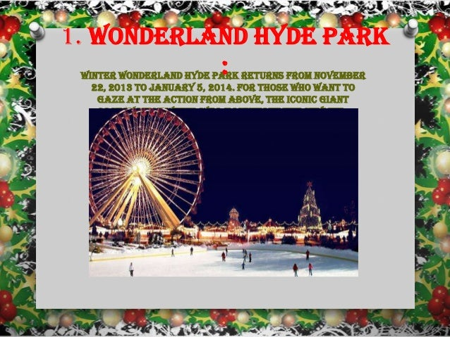 Things to do this christmas in london Slide 2