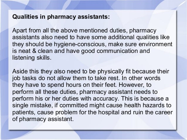 Things to know about being a pharmacy assistant