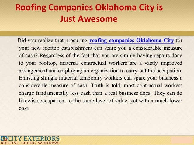 Great Roofing Companies ...