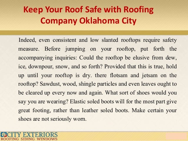 5. Keep Your Roof Safe With Roofing Company Oklahoma City ...