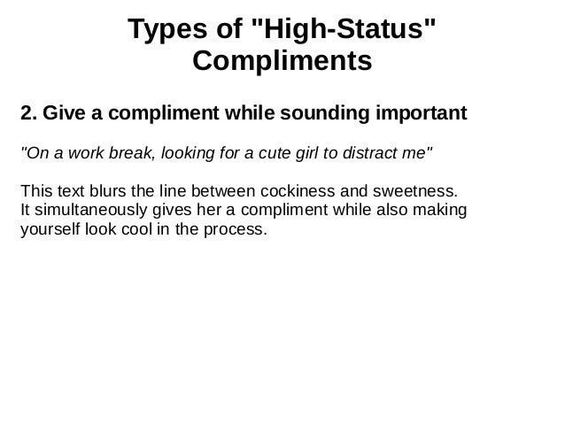 Good compliments to give a girl
