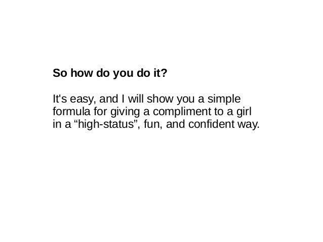How Do I Compliment A Girl