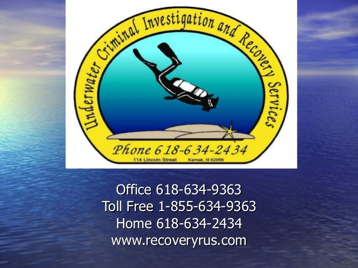 Office 618-634-9363 Toll Free 1-855-634-9363 Home 618-634-2434 www.recoveryrus.com