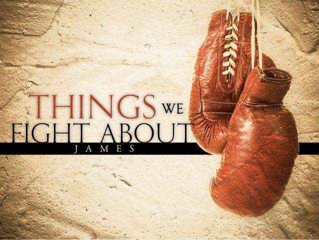 James 4:1-2What is causing the quarrels and fightsamong you? Don't they come from the evildesires at war within you? 2You ...