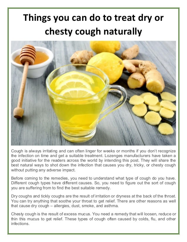 Ways to get rid of a chesty cough fast