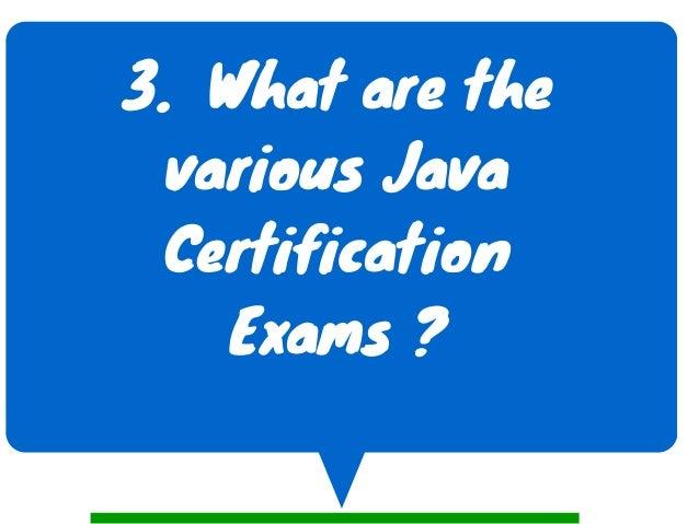 certification java exam