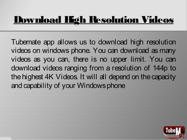 download tubemate for windows phone