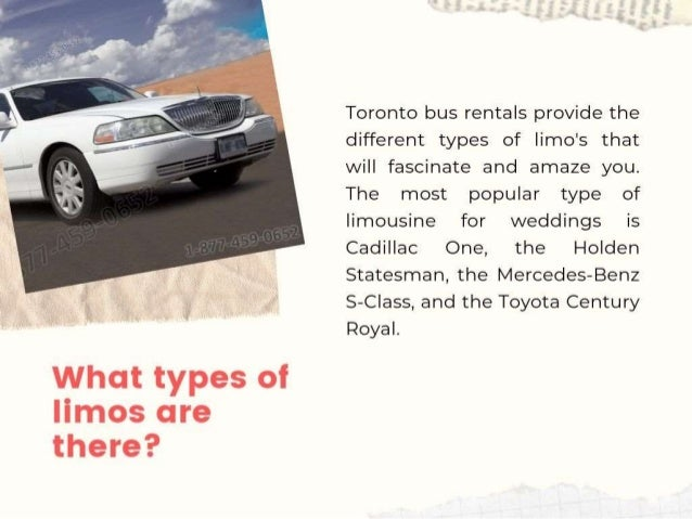 Things you need to know while hiring a Limo Services for your Wedding Slide 3