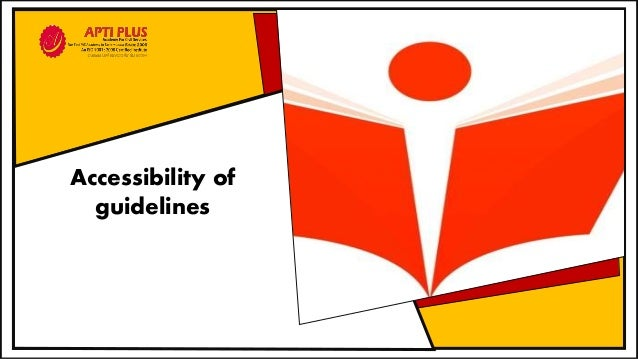 Accessibility of guidelines