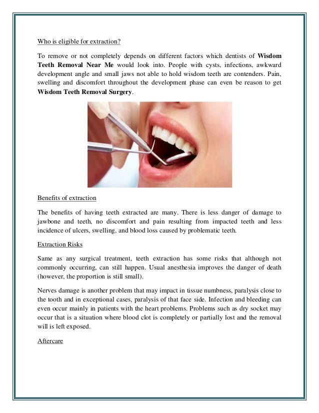 Things you should know about wisdom tooth extraction
