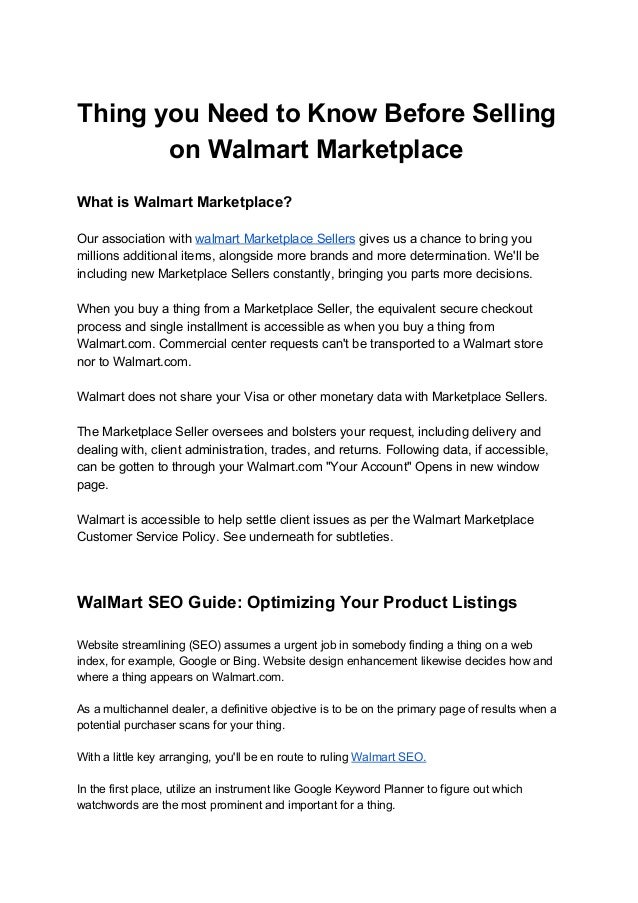 Thing You Need To Know Before Selling On Walmart Marketplace