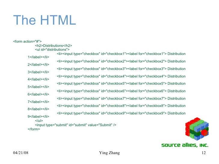 The HTML <ul><li><form action=&quot;#&quot;> </li></ul><ul><li><h2>Distributions</h2> </li></ul><ul><li><ul id=&quot;distr...
