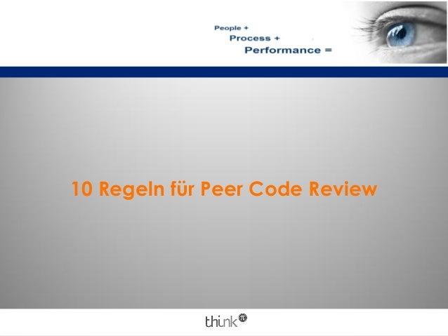 10 Regeln für Peer Code Review