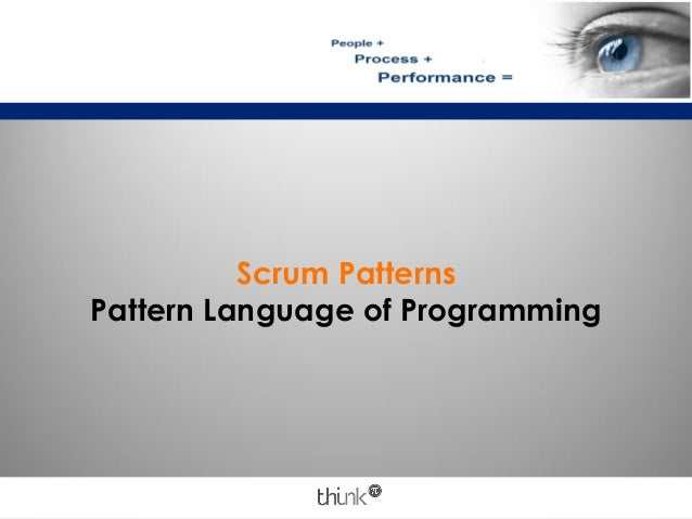 Scrum PatternsPattern Language of Programming