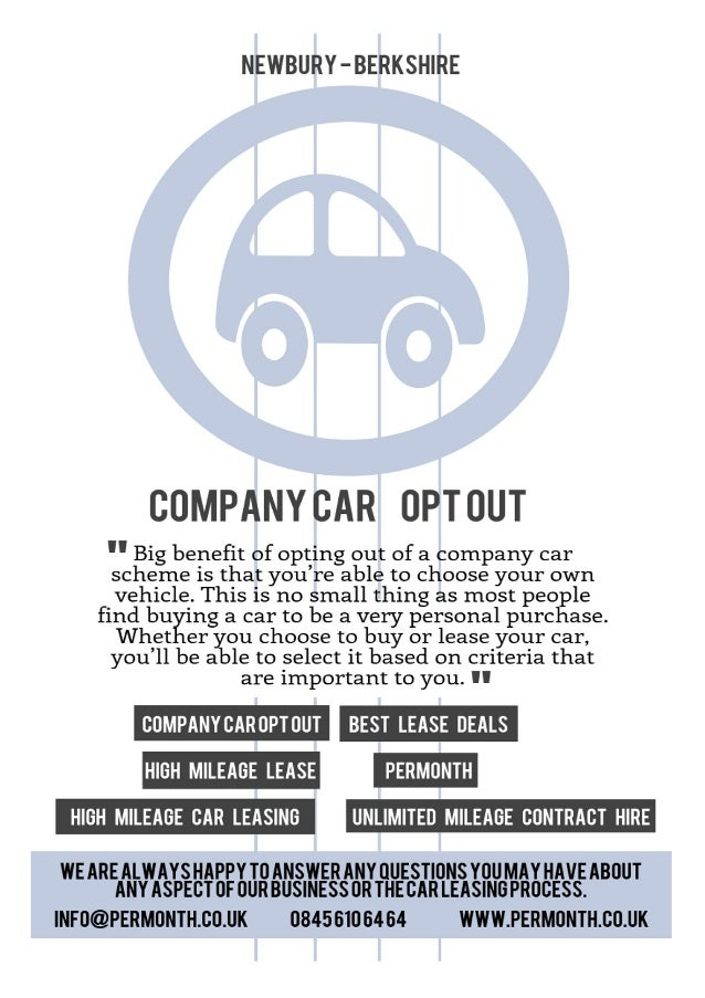 Company Car Opt Out Scheme