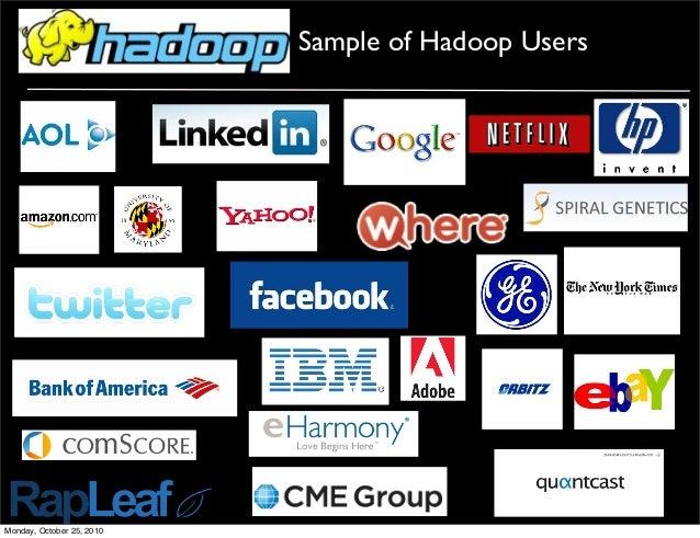 Sample of Hadoop Users Monday, October 25, 2010