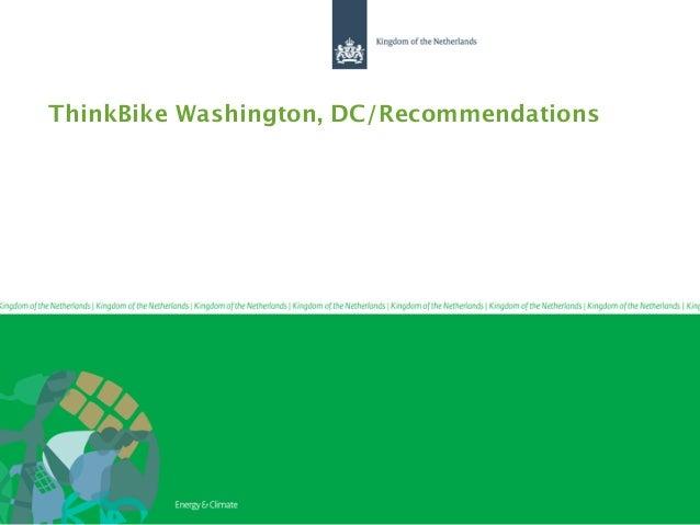 ThinkBike Washington, DC/Recommendations