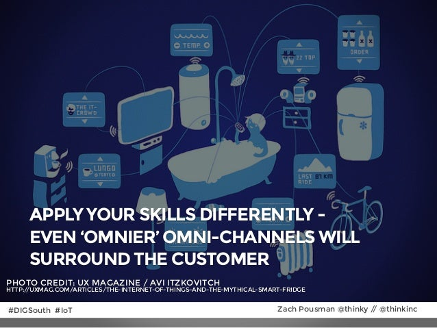 APPLY YOUR SKILLS DIFFERENTLY - EVEN 'OMNIER' OMNI-CHANNELS WILL SURROUND THE CUSTOMER PHOTO CREDIT: UX MAGAZINE / AVI ITZ...